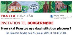 BORGERMØDE den 28. januar 18:30: Hvor skal Præstøs nye daginstitution placeres?