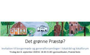 Stiftende generalforsamling i Præstø Lokalforum den 8. september kl. 18:30 – 21:00